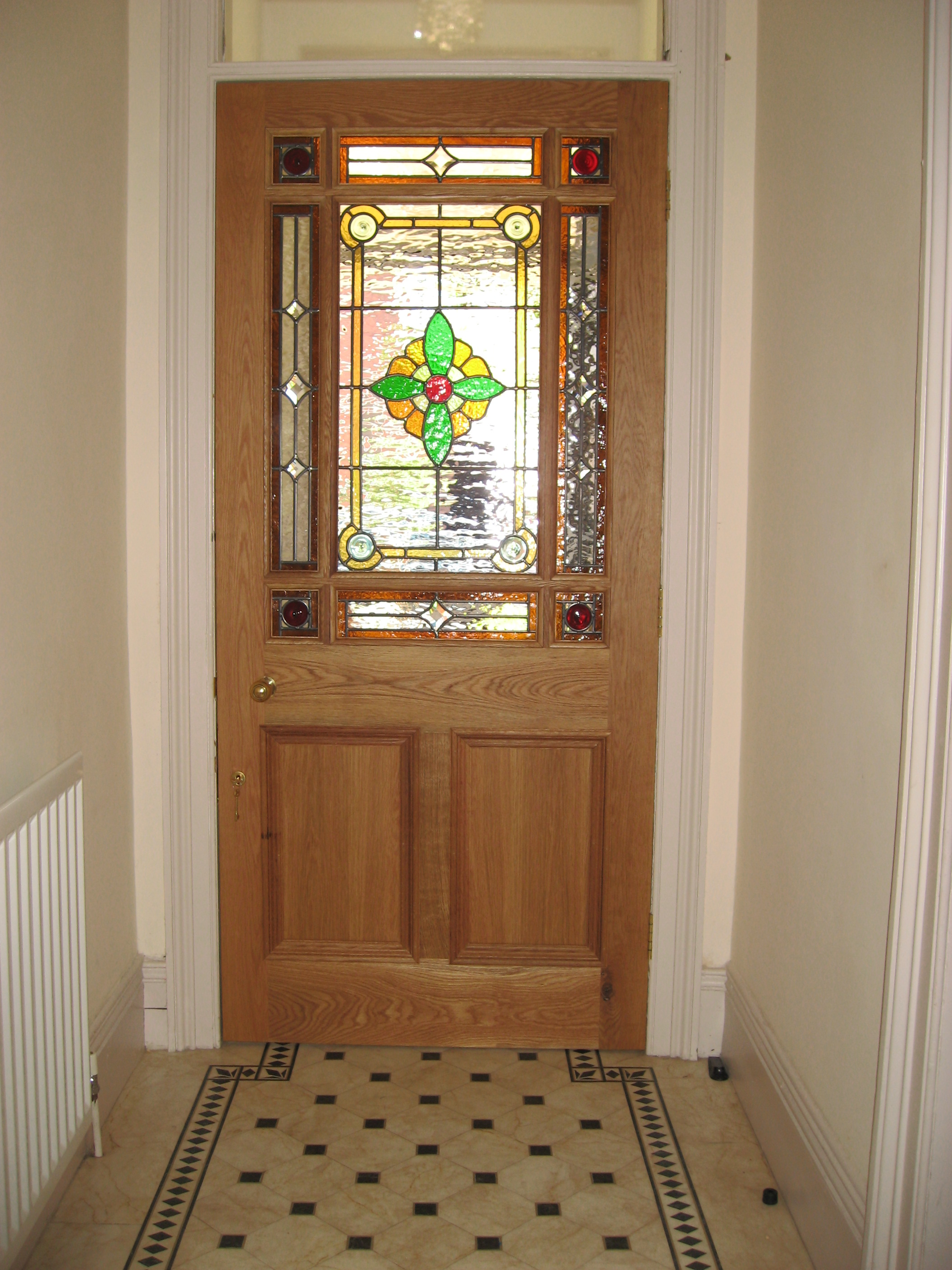 Oak 9 pane door & Bespoke Reproduction handmade doors