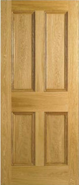 Pitch pine and oak period interior panels doors and stained glass ...