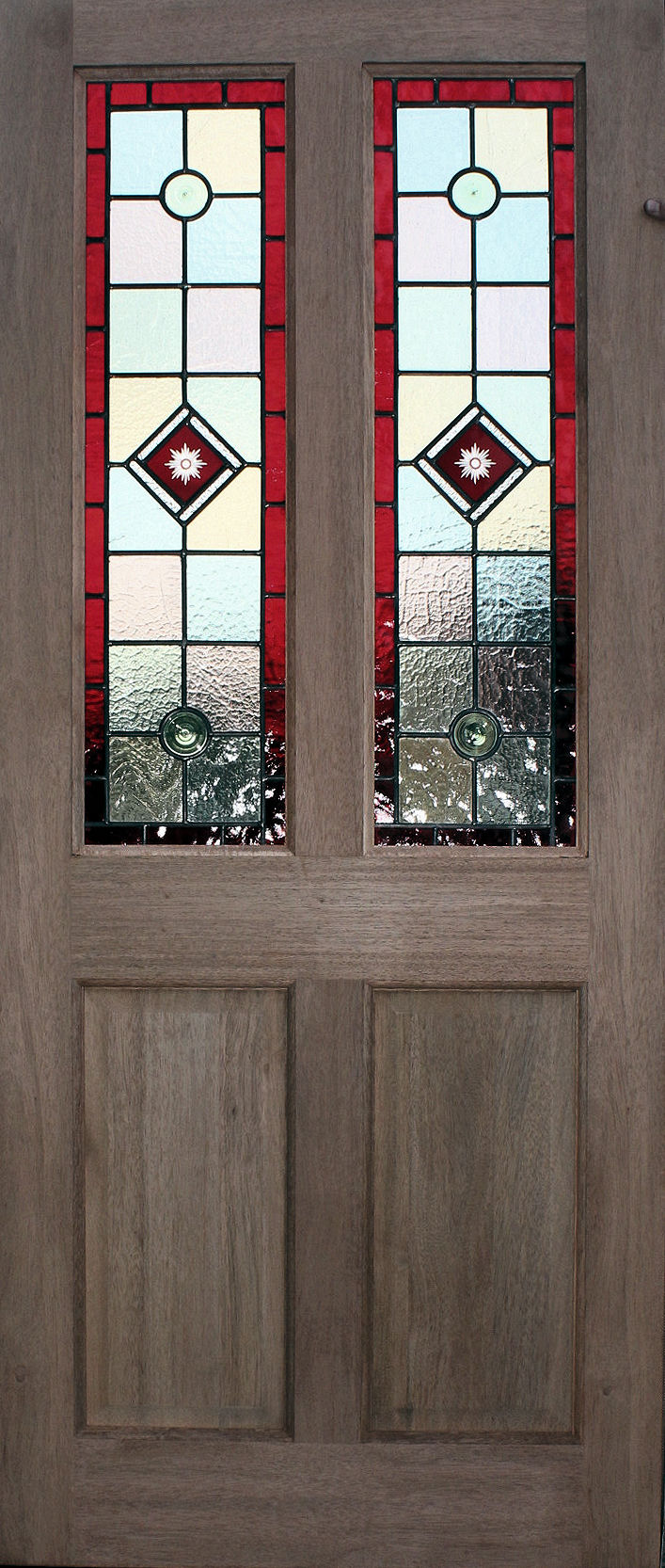 Leaded Glass Doors : Budget stained glass doors