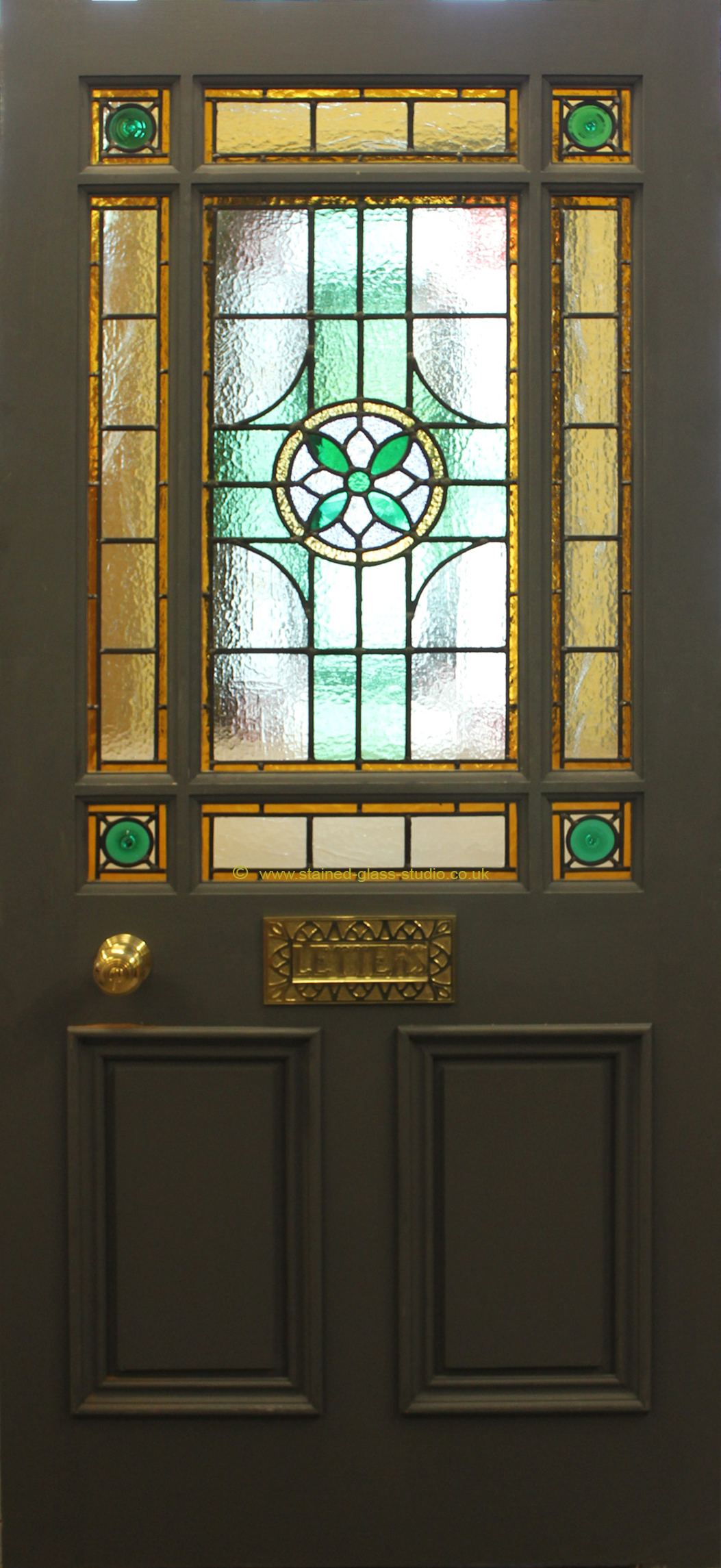 Victorian Style 9 Pane Glazed Door (with Glazing Bars) Redwood £430.  Tulipwood £470. Utile £520