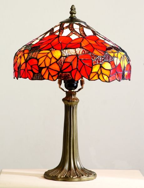 Maple Leaf In Autumn Tiffany Table Lamp Collection