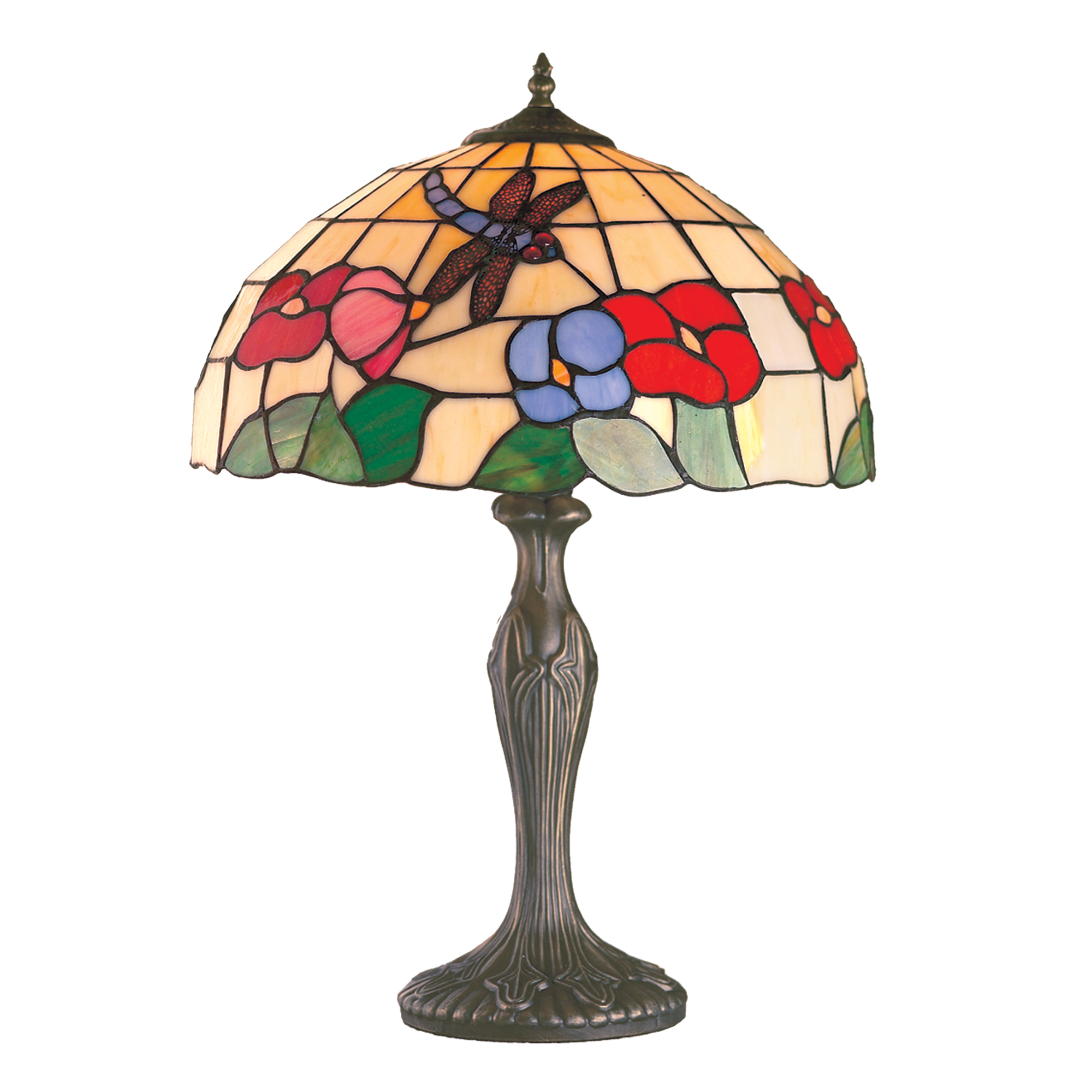 Beige Tiffany Dragonfly Lamp Collection