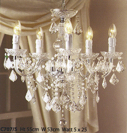 Crystal Effect Chandeliers Available From Steven Amin