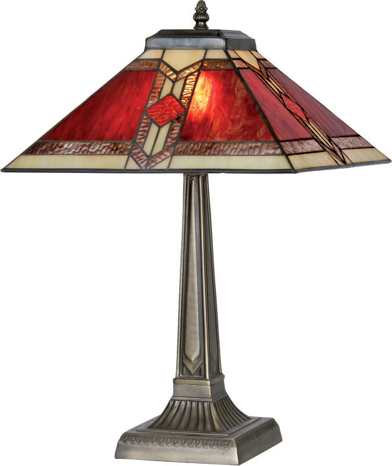 Red Aztec Tiffany Lamp Collection
